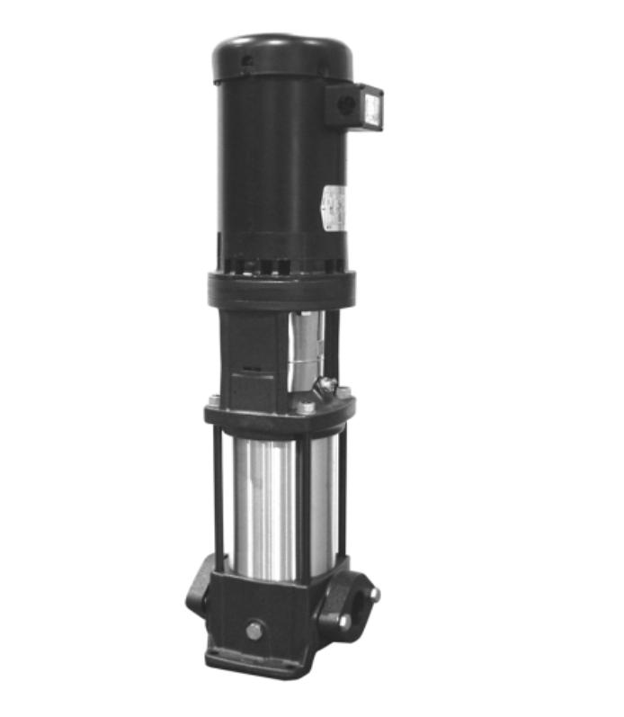 "Grundfos CR 10-1, 96522820 3/4HP 115/208-230V Single Phase CR Multi Stage Centrifugal Pump with HQQE Shaft Seal 56C NEMA Frame 2"" NPT"